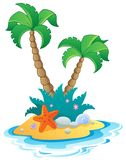 Image with small island 1. Vector illustration Royalty Free Stock Photo