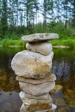 Little stone tower royalty free stock photos