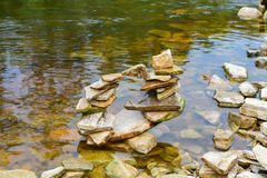 Little stone tower royalty free stock images