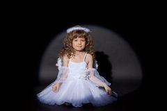 Image of smiling charming angel, close-up royalty free stock photo
