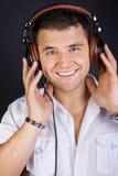 Image of smiling DJ Stock Image