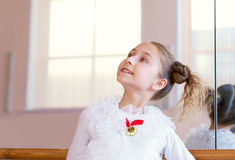 Image of smiling young ballerina posing at camera Stock Image