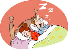 An image of a snoring husband Royalty Free Stock Photography