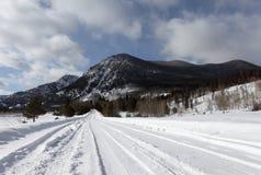 Image of snowy mountain in Colorado Stock Photo