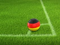 Soccer football with German flag. Image of Soccer football with German flag Stock Images