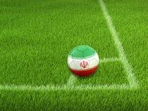 Soccer football with Iranian flag. Image of Soccer football with Iranian flag Royalty Free Stock Image
