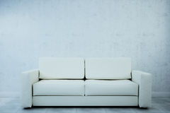 The image of the sofa in a white room light. 3d illustration Royalty Free Stock Photos