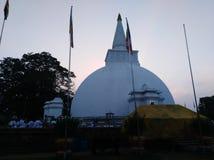 Sri lankan somawathiya Buddhism temple anuradhapura. This image is somawathiya temple side view. one by one layer making genaration togenaration Stock Image