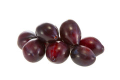 Image of some delicious purple plums Royalty Free Stock Photography