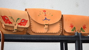 Leather bags Stock Image