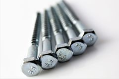 An Image of some screws, with copy space. Construction, tool - abstract stock photos