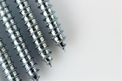 An Image of some screws, with copy space. Construction, tool - abstract stock photography