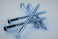 An Image of some screws, with copy space. Construction, tool - abstract royalty free stock image