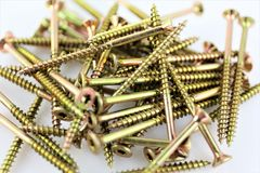 An Image of some screws, with copy space. Construction, tool - abstract royalty free stock images