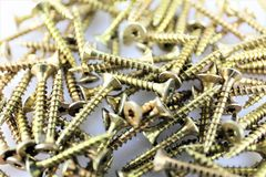 An Image of some screws, with copy space. Construction, tool - abstract stock photo