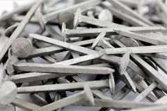 An Image of some steel nails - construction equipment. Tool - abstract Royalty Free Stock Image