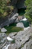 Image of the Sooke Potholes, BC, Canada. Image of the Sooke Potholes Provincial Park, Vancouver Island, BC, Canada royalty free stock photography