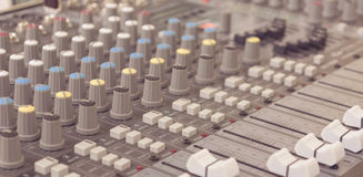 image of sound mixer panel . Stock Photography