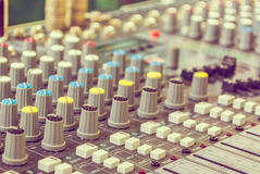 image of sound mixer panel . Royalty Free Stock Images