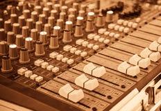 image of sound mixer panel . Royalty Free Stock Photos