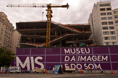 Image and Sound Museum Construction Royalty Free Stock Image