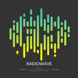 The image of the sound wave. FM radio logo. Vector illustration Stock Image
