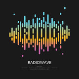 The image of the sound wave. Logo Radio. Vector illustration Royalty Free Stock Photos