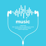 The image of the sound wave. Vector illustration. Icon. Track. Song Music Stock Image