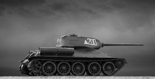 Image of the Soviet T-34 tank Royalty Free Stock Photo
