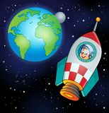Image with space theme 4 Stock Images