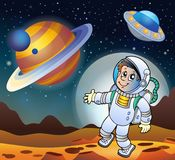 Image with space theme 7. Eps10 vector illustration Stock Photo