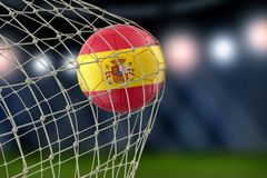 Spanish soccerball in net. Image of Spanish soccerball in net Royalty Free Stock Photography