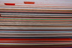 Image stack of colored cardboard texture paper Stock Photos