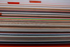 Image stack of colored cardboard texture paper Royalty Free Stock Photography