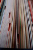 Image stack of colored cardboard texture paper Stock Images