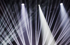 Image of stage lighting effects. Stage lights on a console, smoke, image of stage lighting effects royalty free stock photography