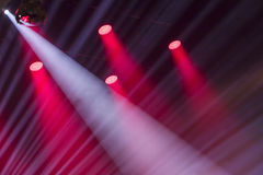 Image of stage lighting effects. Stage lights on a console, smoke, image of stage lighting effects stock image