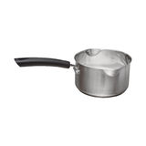 image of stainless steel saucepan Stock Photos