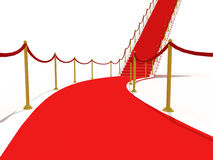 Image on the staircase with red carpet Stock Photo