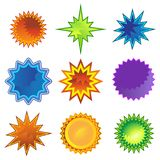 Starburst Star Flat Icon Set Royalty Free Stock Photo