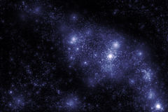 Image of stars and nebula clouds in deep space Stock Photo