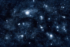 Image of stars and nebula clouds in deep space Royalty Free Stock Images