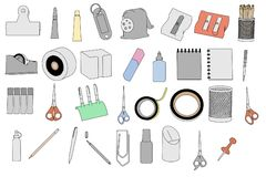 Image of stationery tools Stock Photo