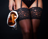 Image of stockings and mask Stock Photography
