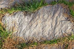 an image of a stone footpath texture with green grass around royalty free stock photo