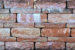 An image of a stone wall in the garden Royalty Free Stock Image