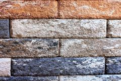 An image of a stone wall in the garden Stock Images
