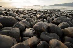 An image of stones on the beach Stock Photos