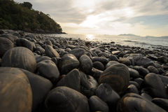 An image of stones on the beach Royalty Free Stock Photos