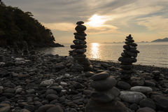 An image of stones on the beach Stock Image